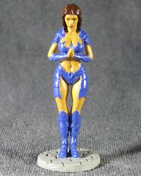 Erotic figurine of a woman knight